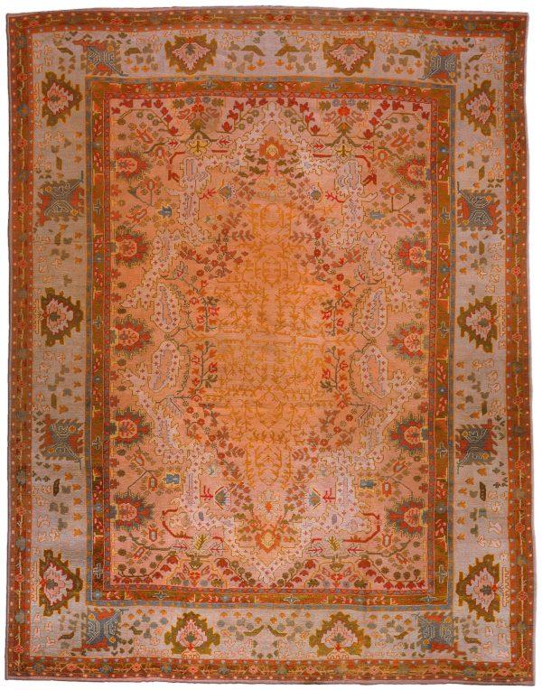 Antique Turkish Oushak Rug BB1220