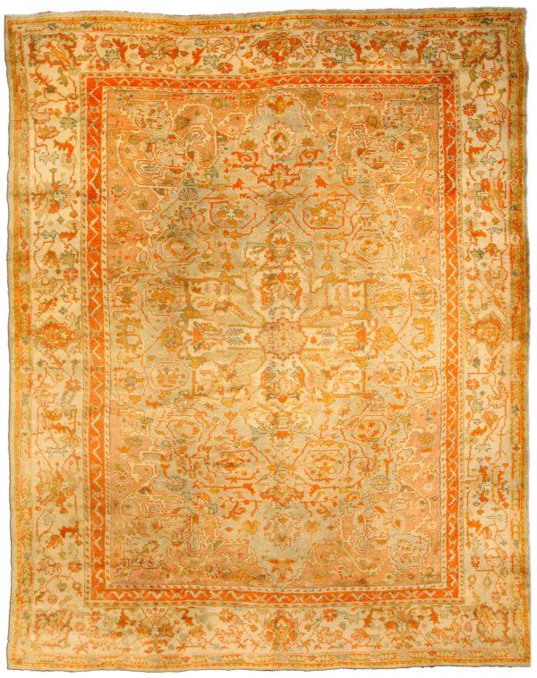 Antique Turkish Oushak Carpet BB2811