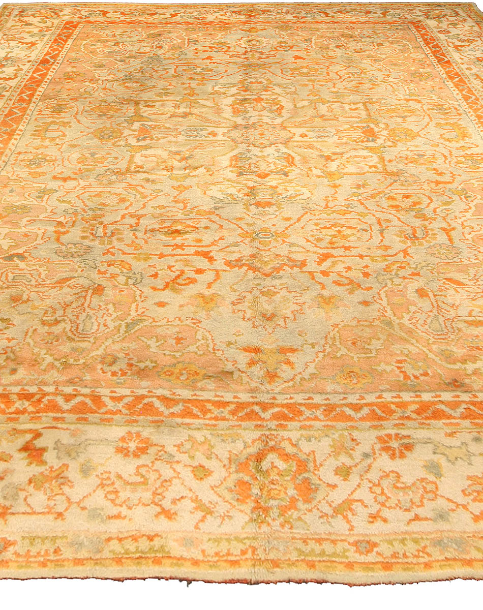 Antique Turkish Oushak Carpet BB2811