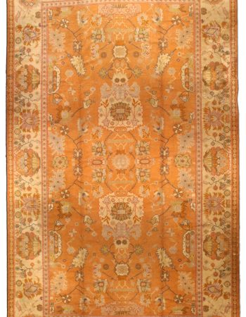 Antique Turkish Oushak Rug BB4425