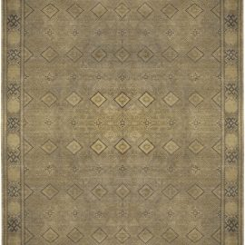 Early 20th Century Turkish Sivas Tan and Gray Handwoven Wool Rug BB5112