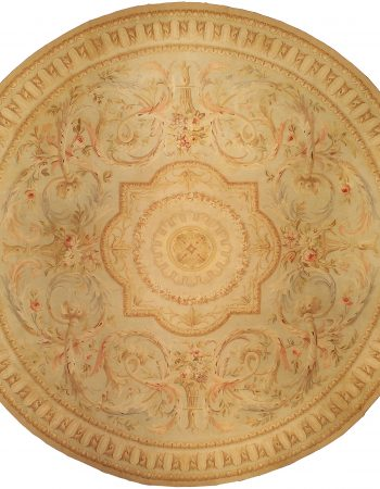 Vintage French Aubusson Circular Carpet BB0135