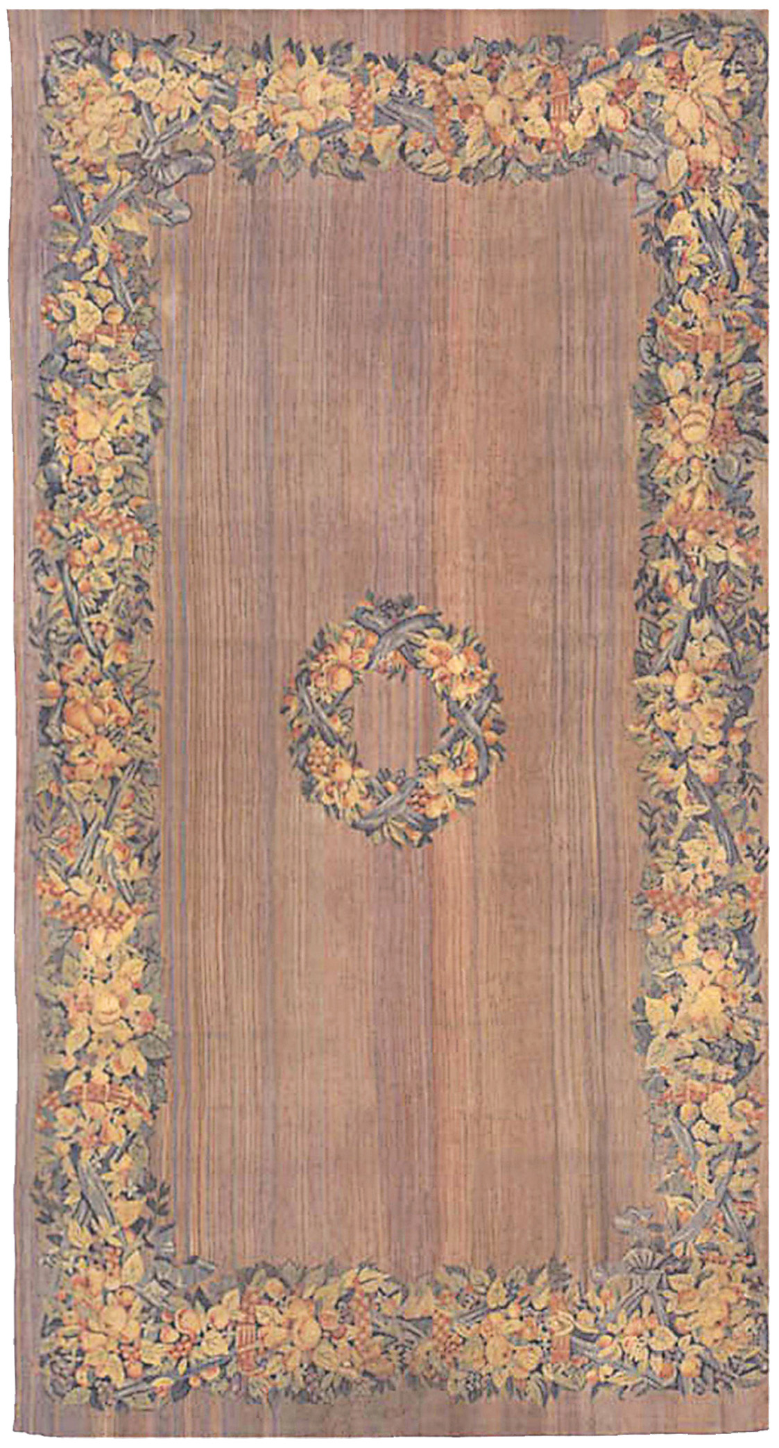 Antique Flat-woven Aubusson Rug BB0178