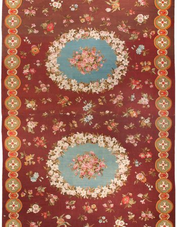 Antique French Aubusson Carpet BB0195