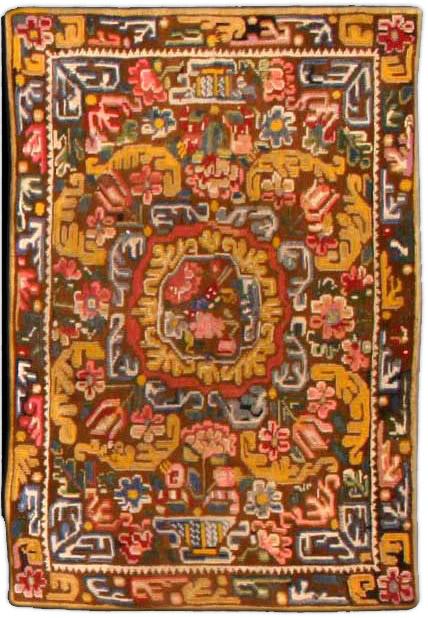 Antique Needlework Carpet BB3275