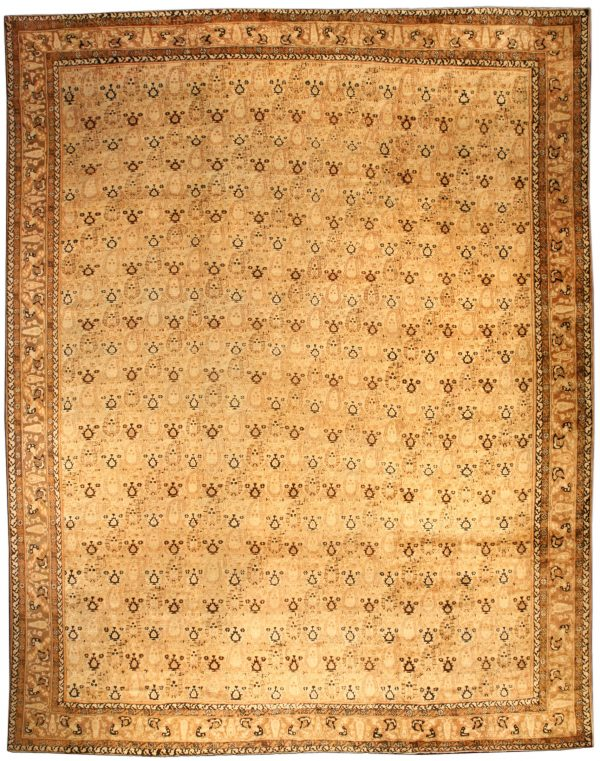 Large Vintage Indian Agra Rug BB3796