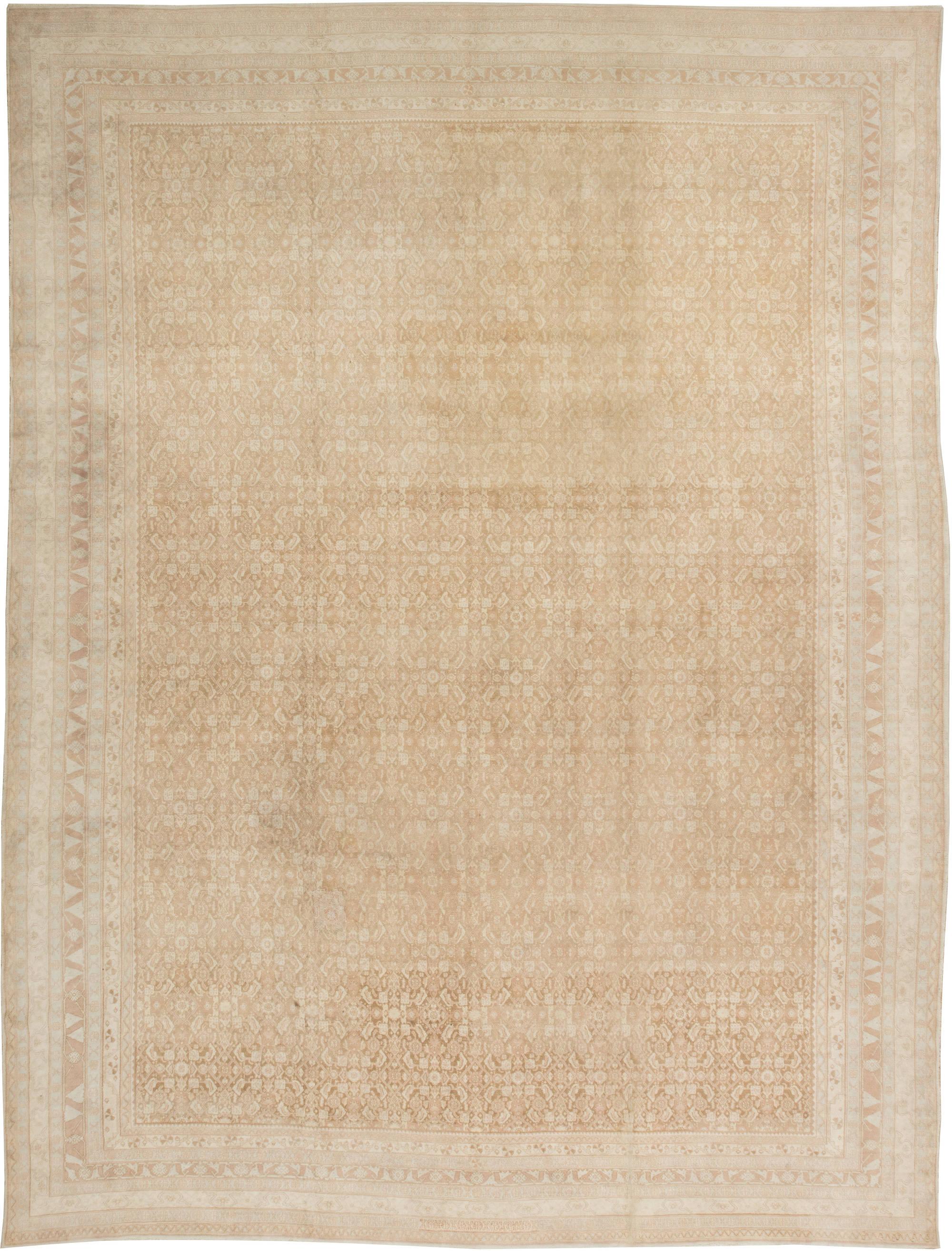 Antique Indian Agra Rug BB2676