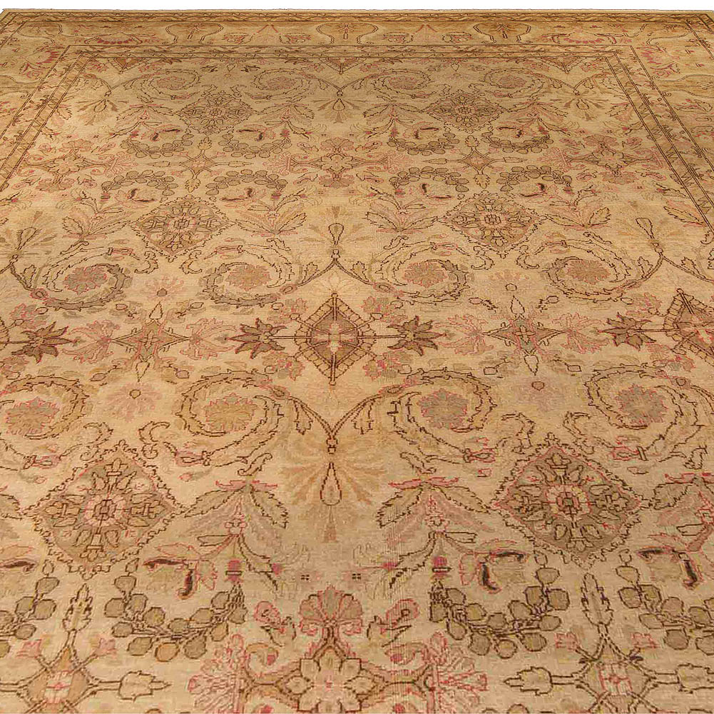 Antique Indian Amritsar Carpet (Size Adjusted) BB4269