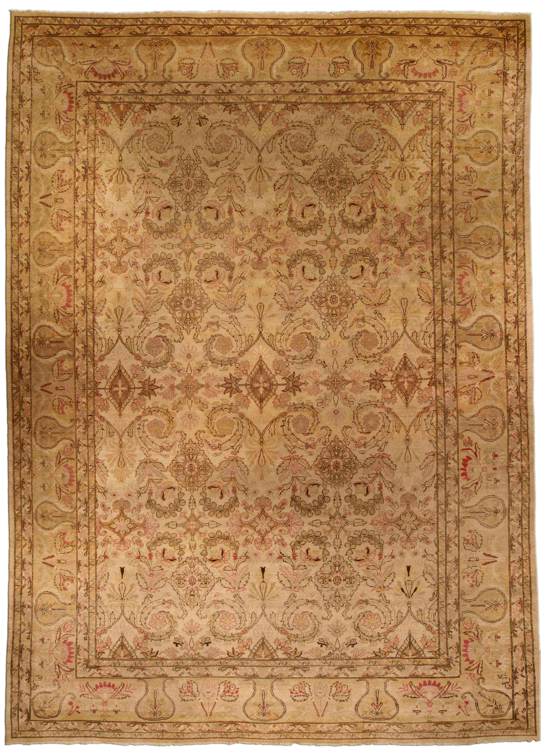 Antique Indian Amritsar Carpet (size adjusted) BB4269