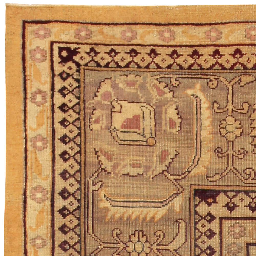 Antique Indian Amritsar Handwoven Wool Rug BB5191