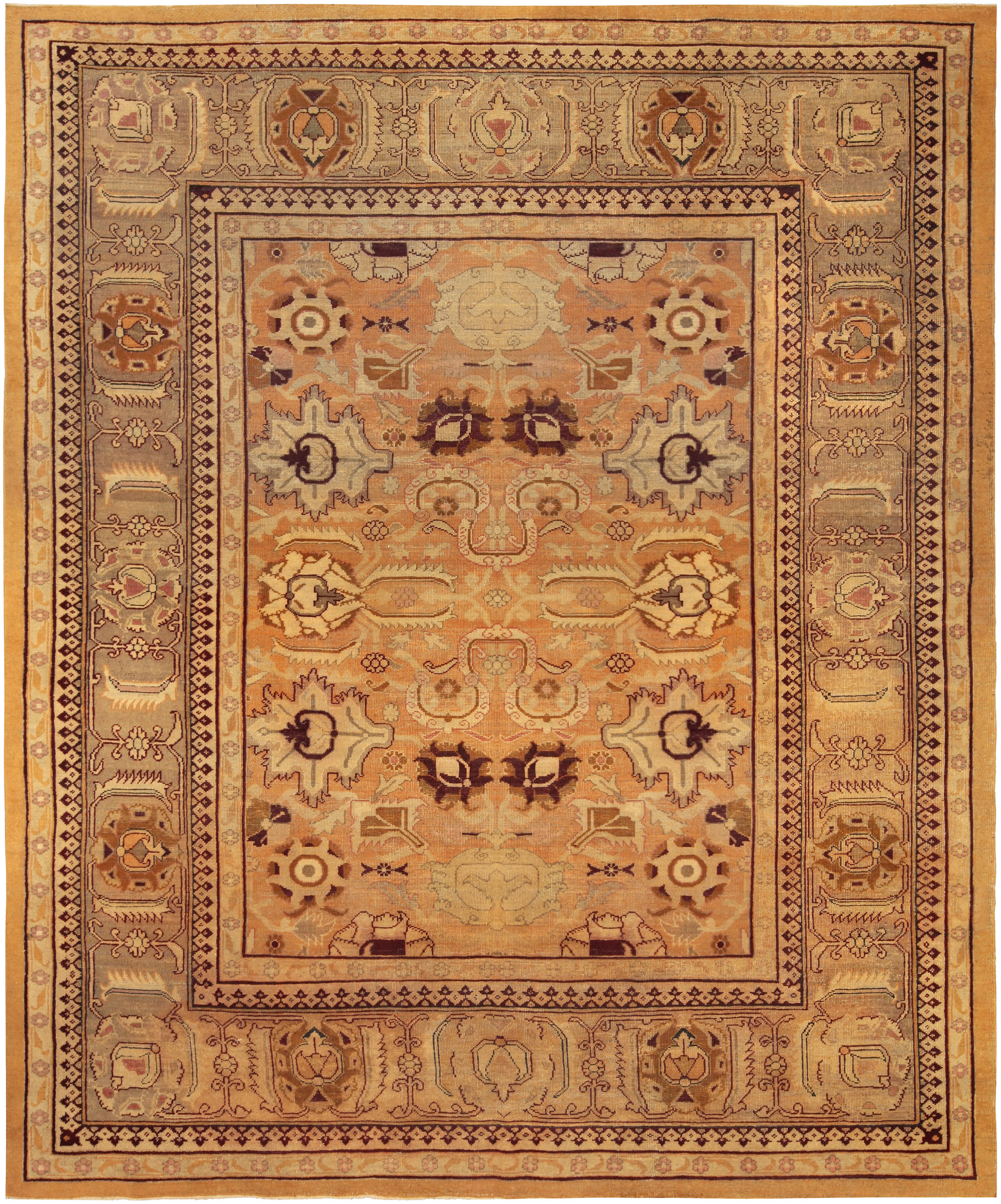Antique Indian Rugs: Antique Indian Amritsar Rug BB5191 By Doris Leslie Blau