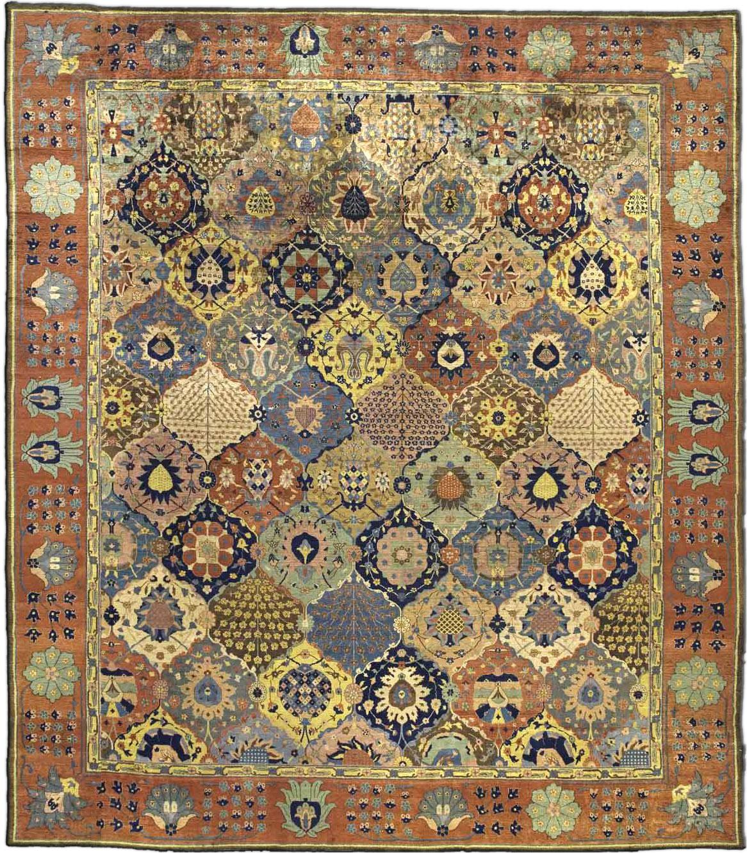 Antique Indian Carpet Bb5601 size Adjusted