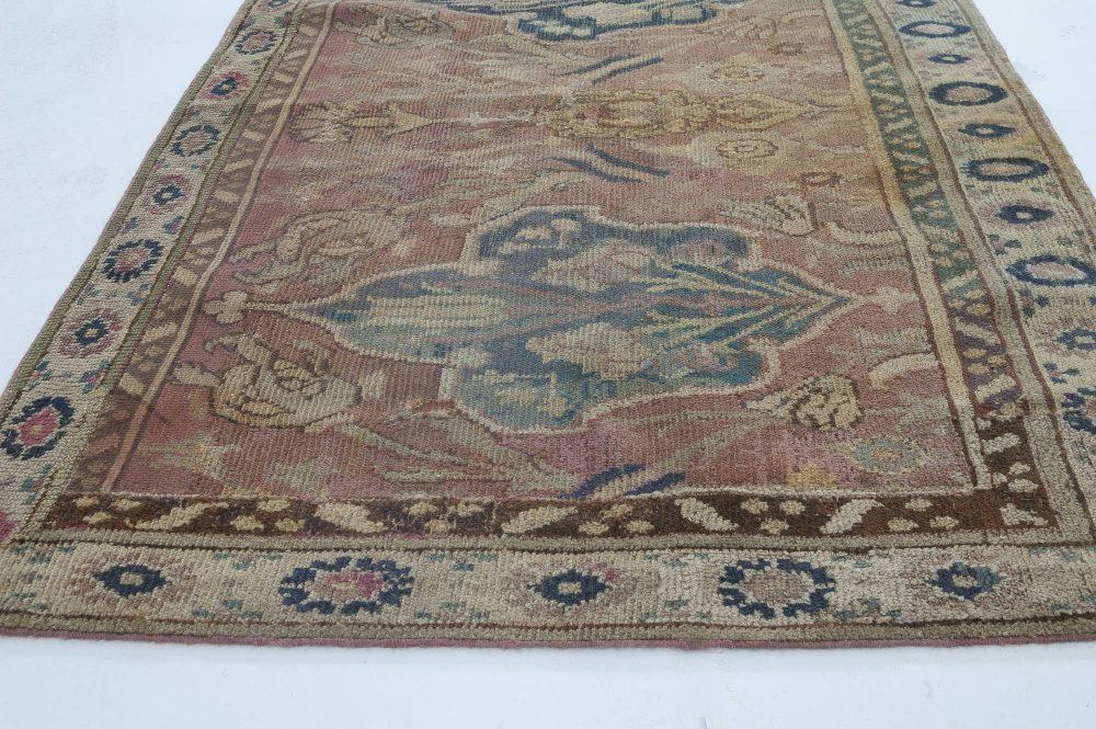 Narrow Cairene Antique Dusty Rose Handwoven Wool Runner BB3402