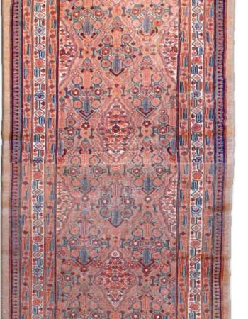 Swedish Pink, Blue & Yellow Flat-Weave Runner by Sverker Greuholm BB6247