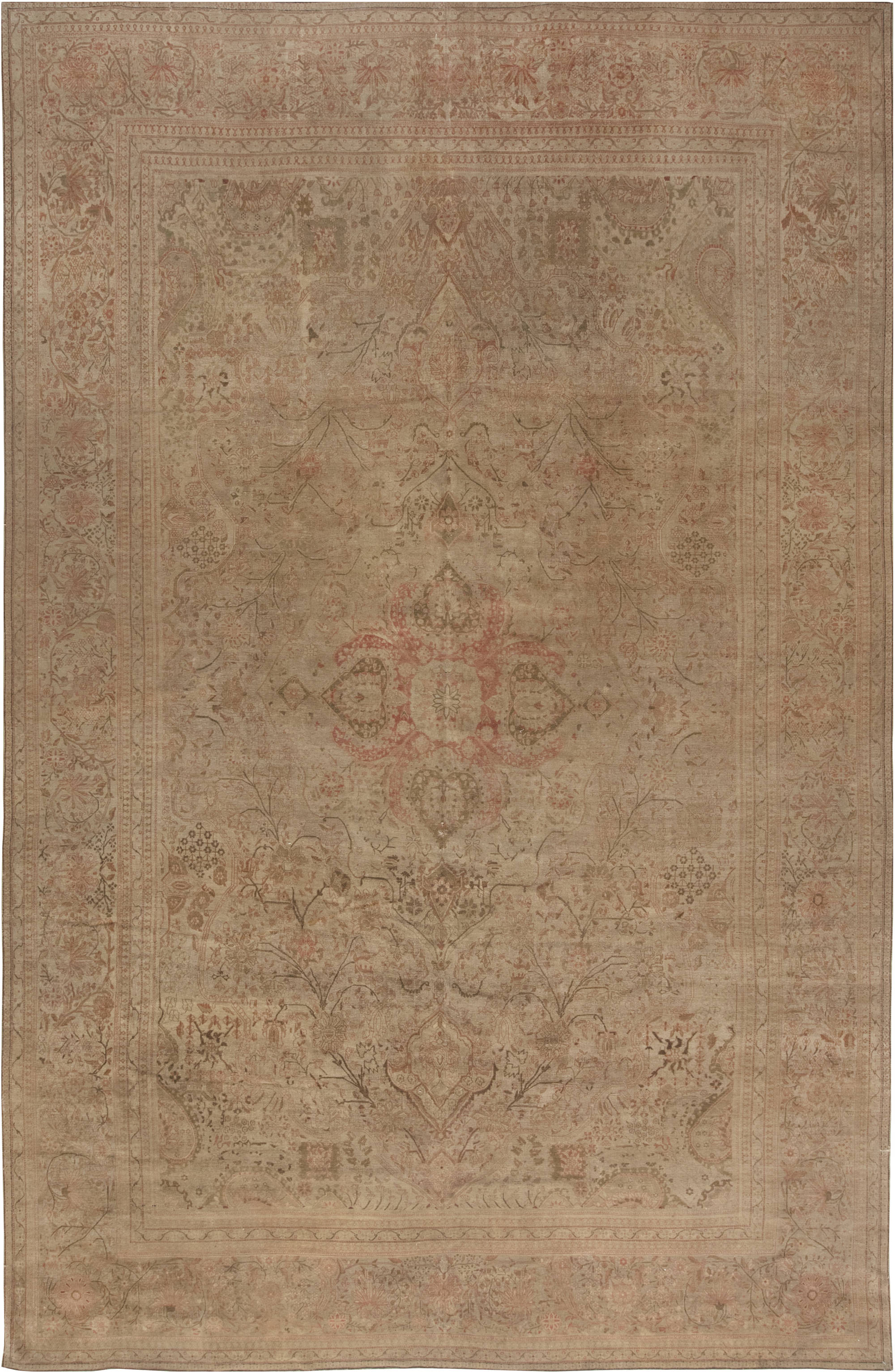 Antique Persian Kashan Rug BB4452