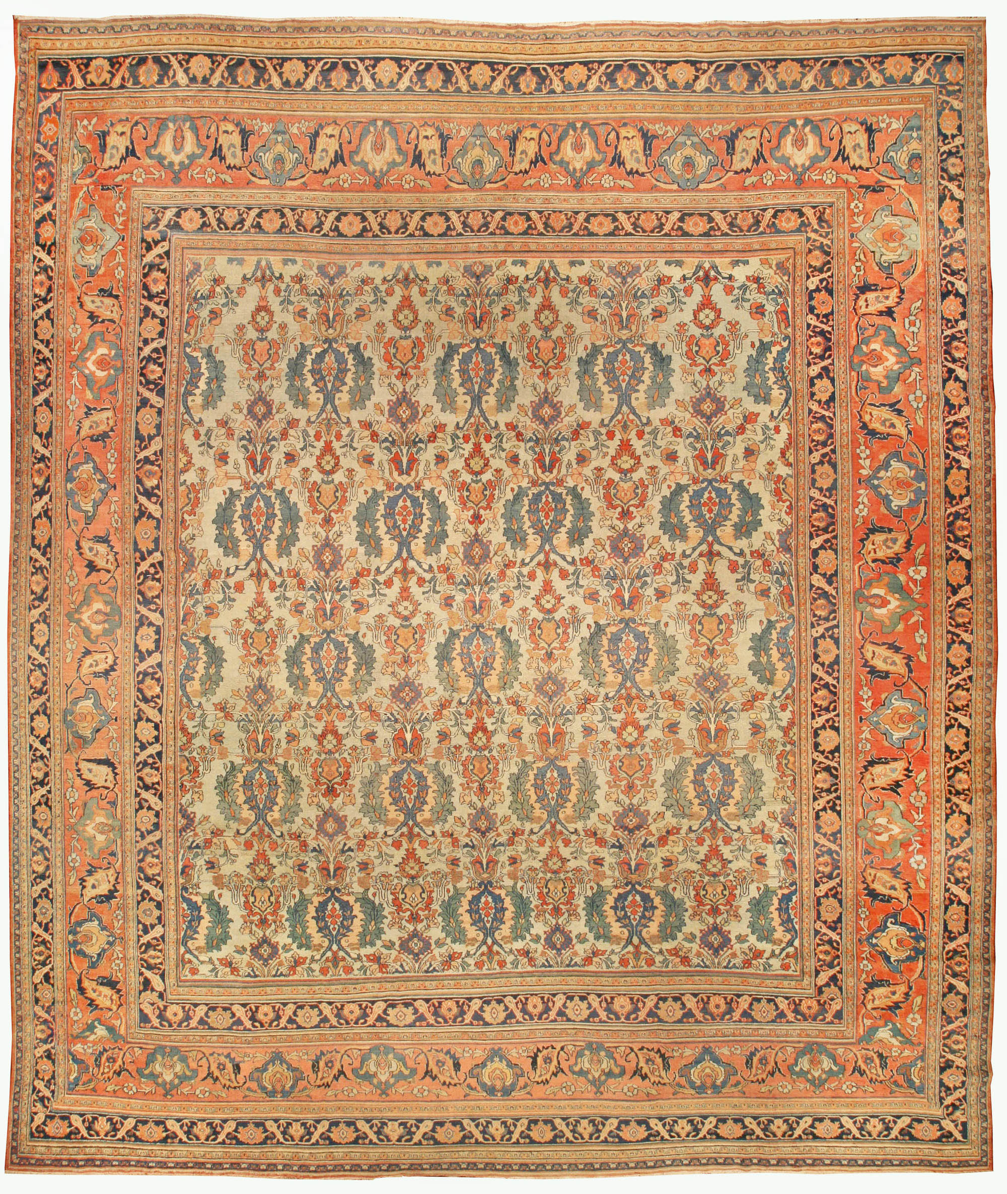 Antique Large Rug: Large Antique Persian Khorassan Rug BB4297 By Doris Leslie