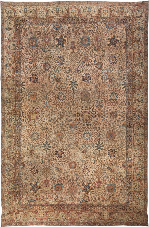 Antique Persian Kirman Rug BB0096