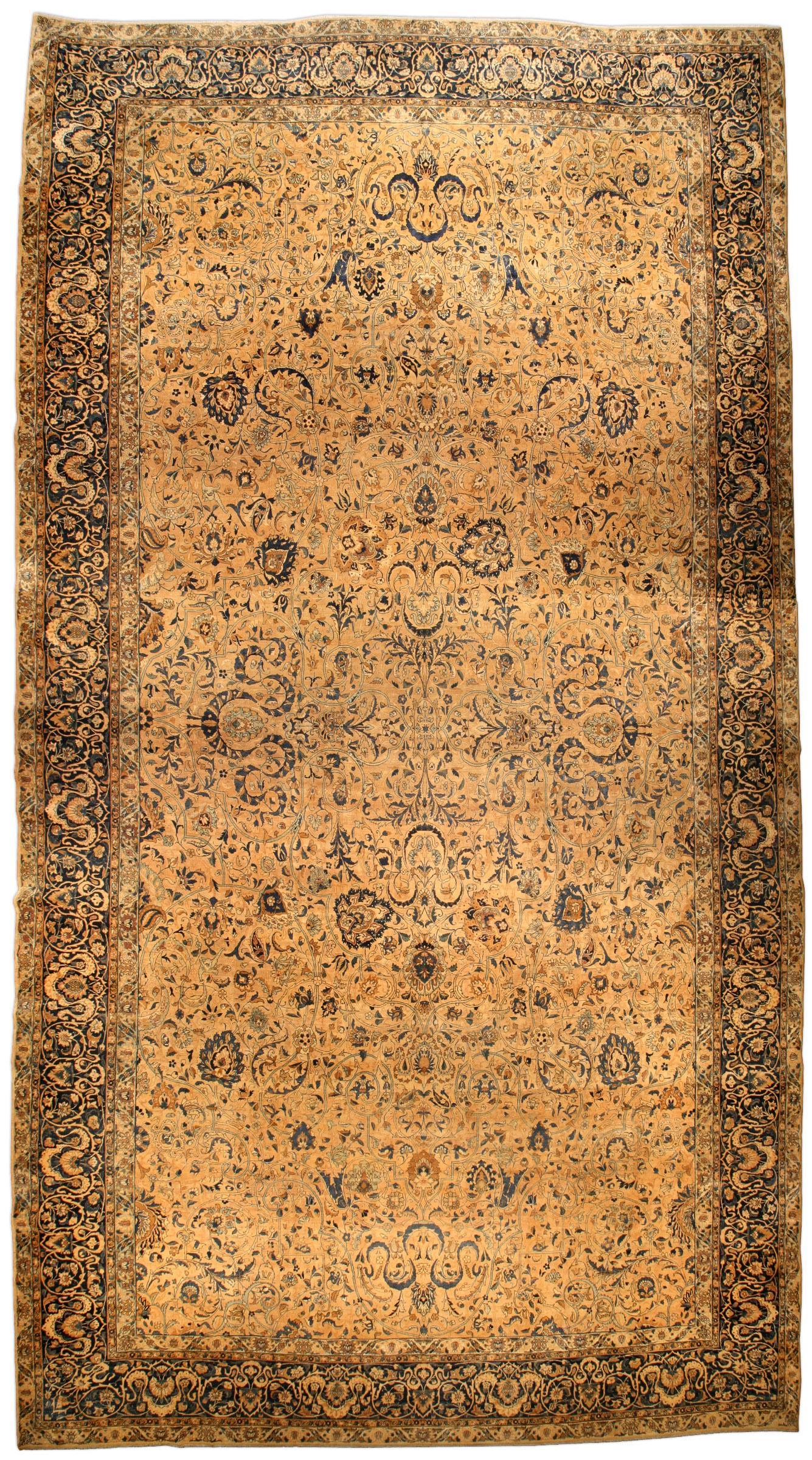 Oversized Antique Persian Kirman Carpet BB4201