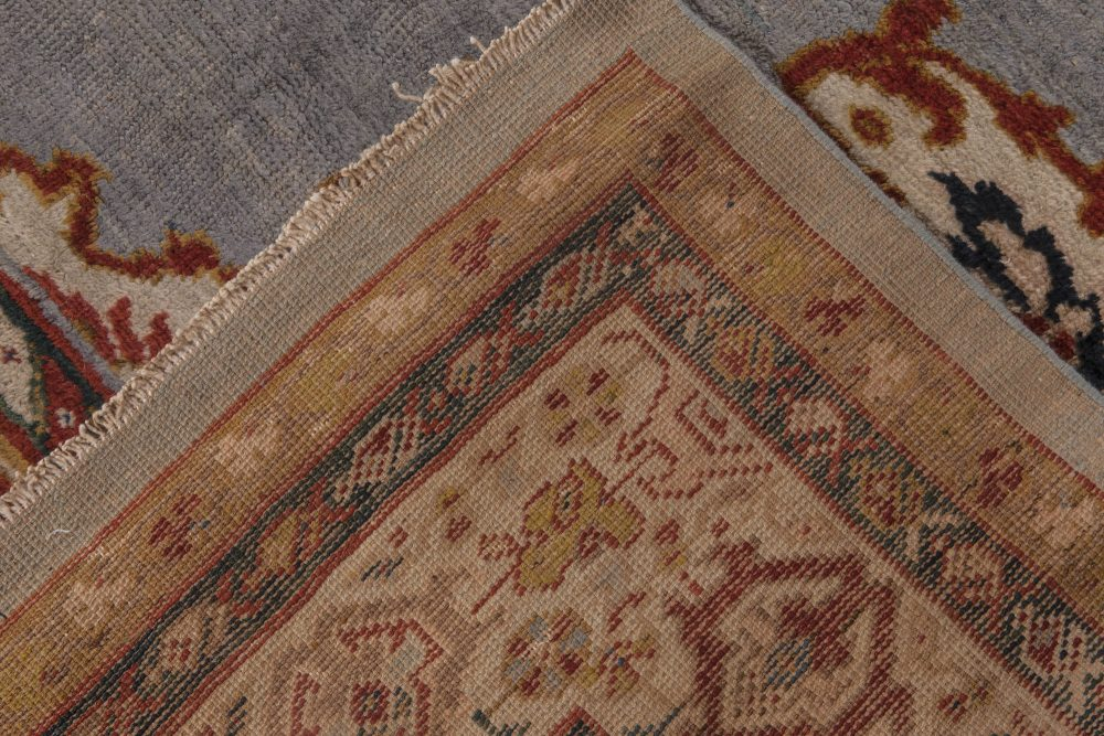 Antique Persian Sultanabad Gray, Beige, Carmine and Copper Rug BB6484