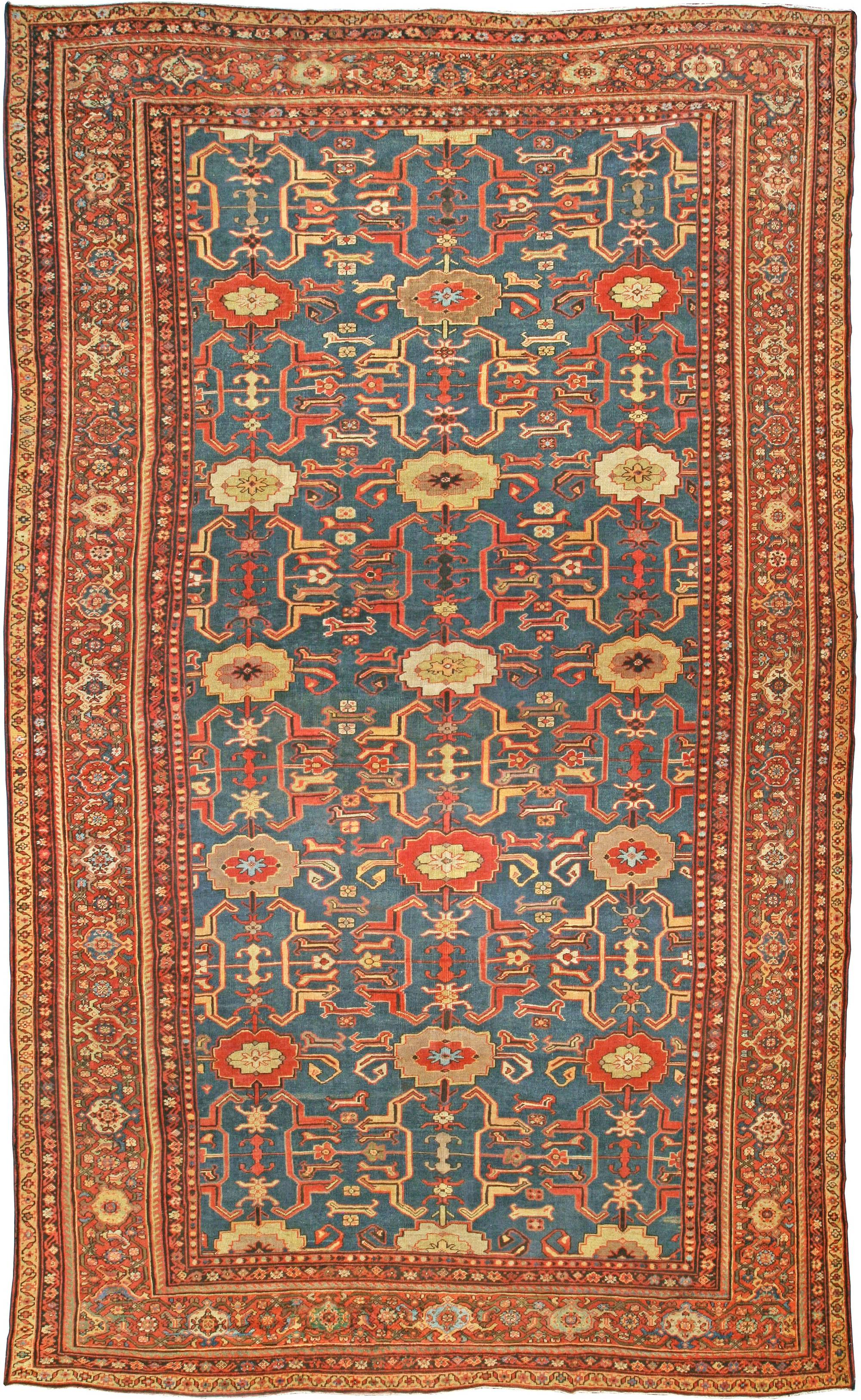 Blue Antique Persian Sultanabad Rug Bb4331 By Dlb