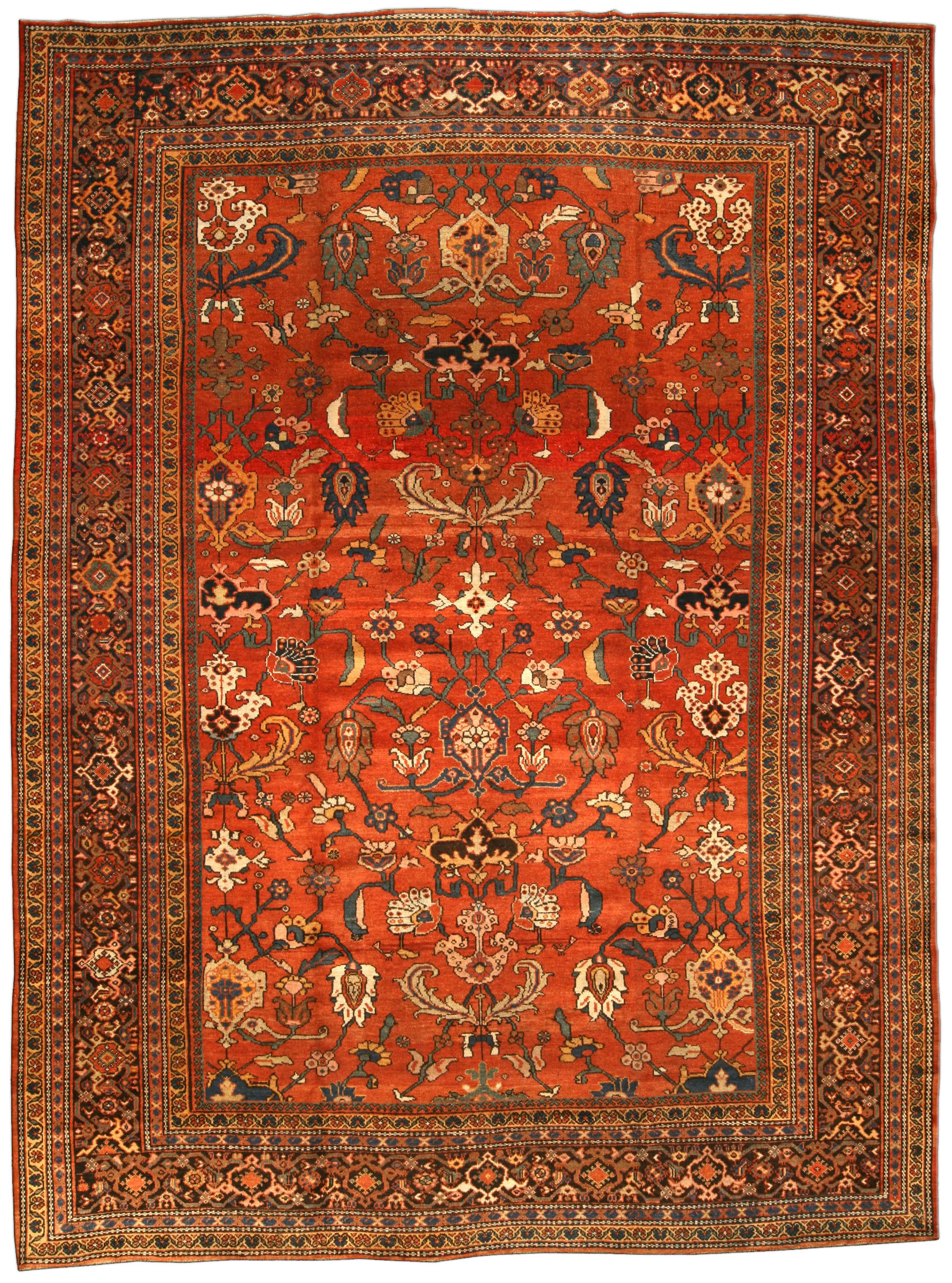 Vintage Persian Sultanabad Rug Bb3198 By Dlb