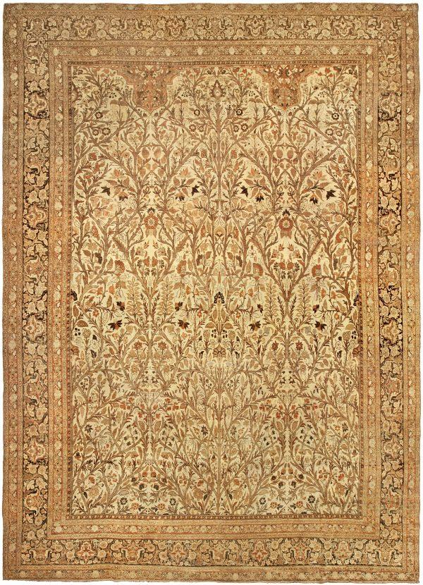Antique Persian Tabriz Rug (size adjusted) BB4818