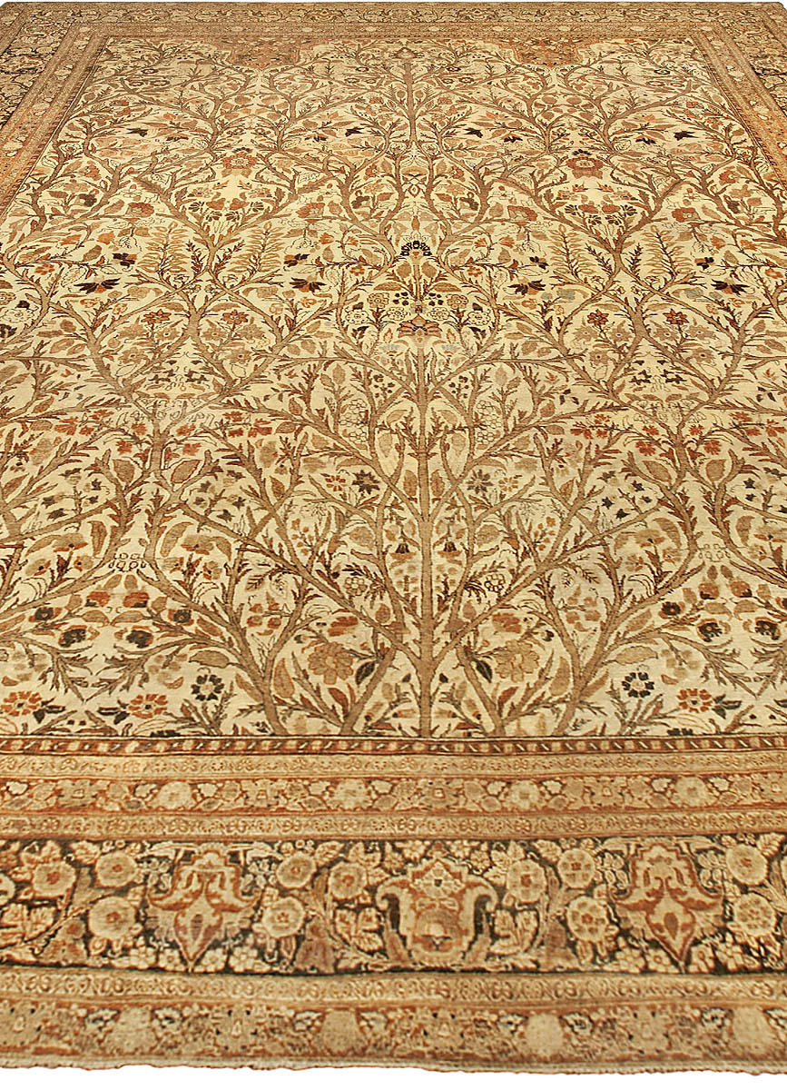 Antique Persian Tabriz Rug Size Adjusted Bb4818 By Doris