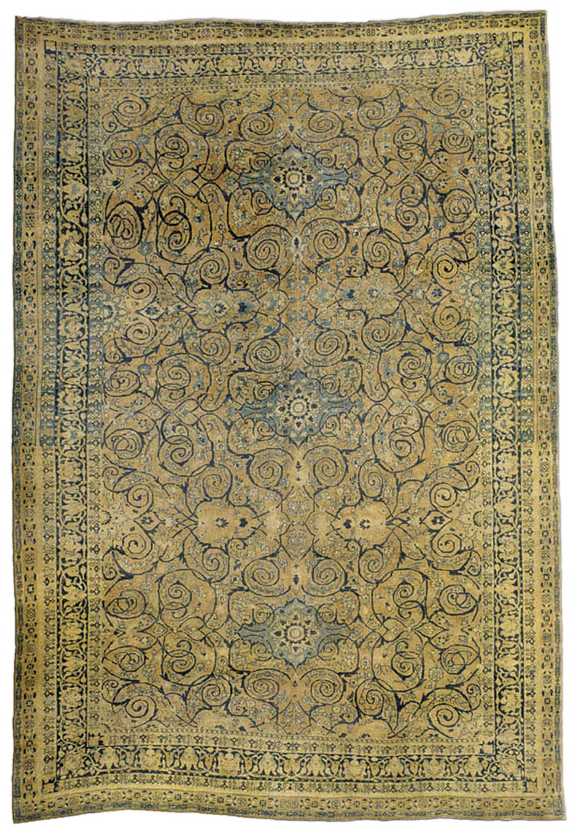 Antique Persian Tabriz Rug BB0826