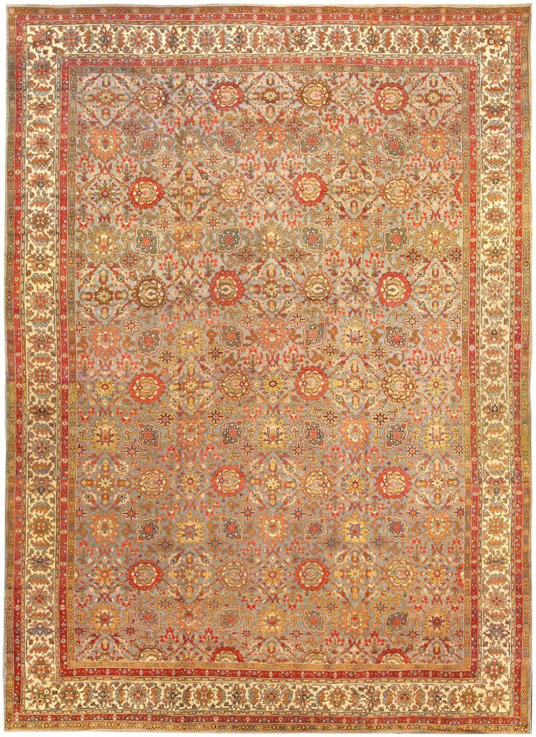 Antique Persian Tabriz Carpet Bb0576 By Dlb