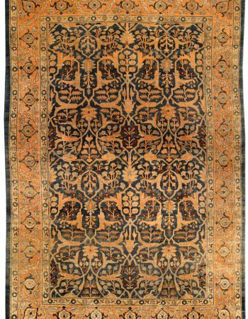Antique persa Tabriz Tapete BB4174
