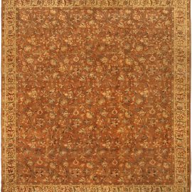 Antique Persian Tabriz Brown Rug BB5213