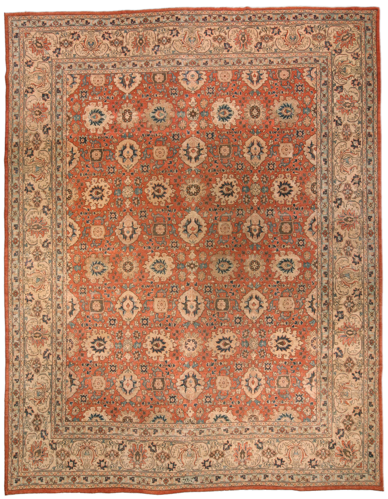 Antique Persian Tabriz Carpet Bb3255 By Doris Leslie Blau