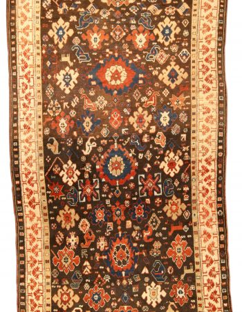 Antique Karabagh Floral Design Rug (Size Adjusted) BB5075
