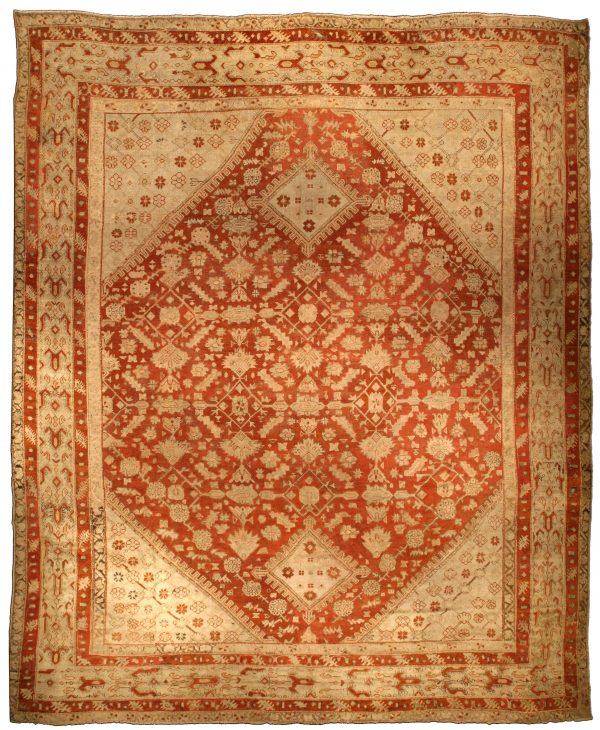 Oversized Vintage Turkish Ghiordes Carpet BB4288