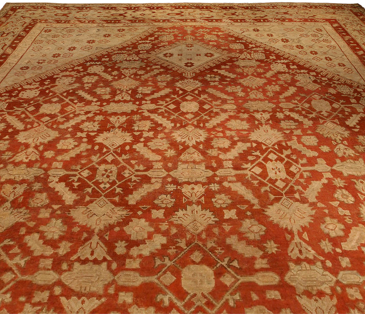 Oversized Vintage Turkish Ghiordes Carpet BB4288