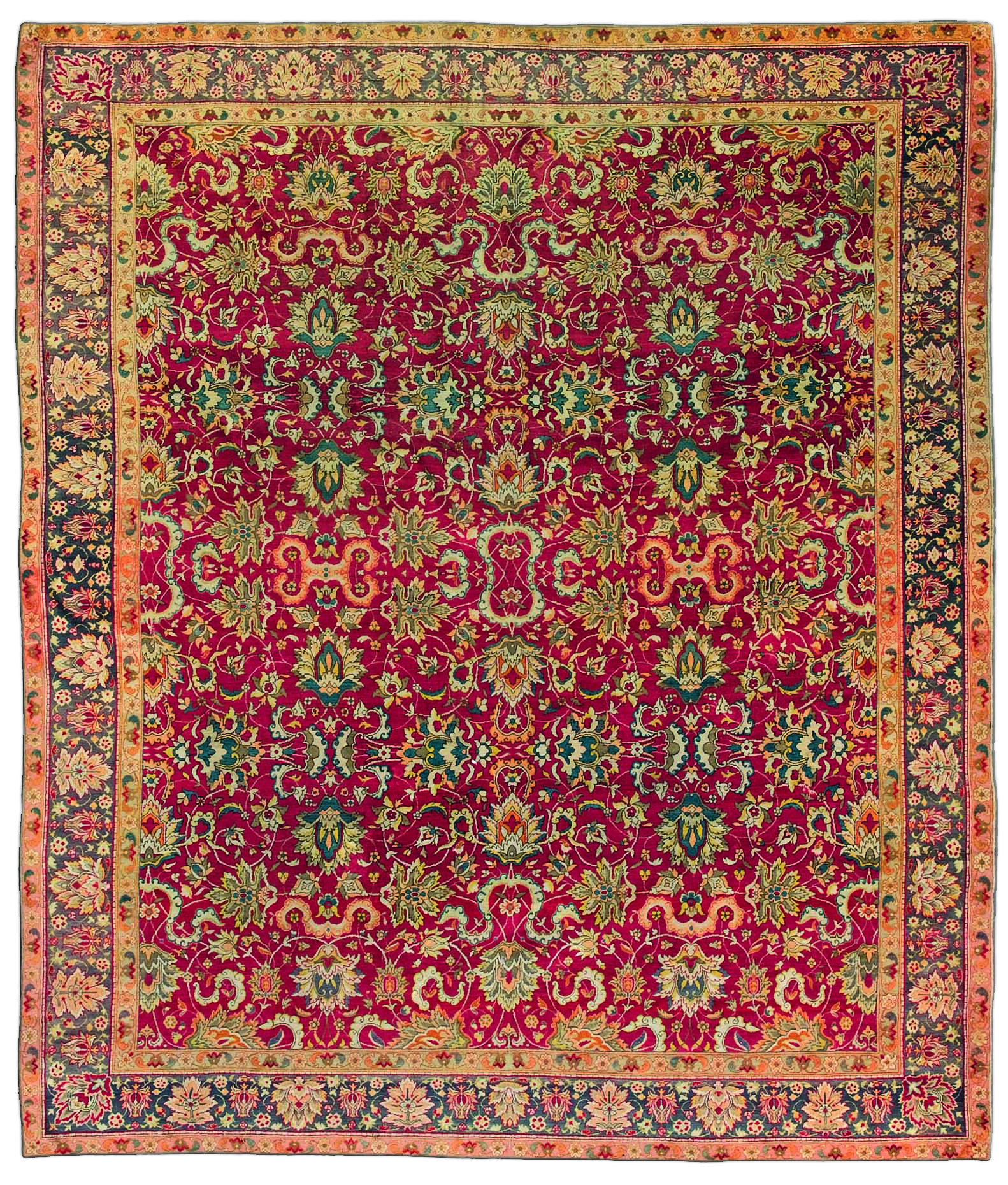 Antique Turkish Silk Rug: Antique Turkish Hereke Rug BB3567 By Doris Leslie Blau