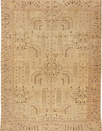 Antique Turkish Oushak Rug BB5743