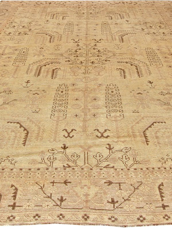 Antique Turkish Oushak Rug BB5743