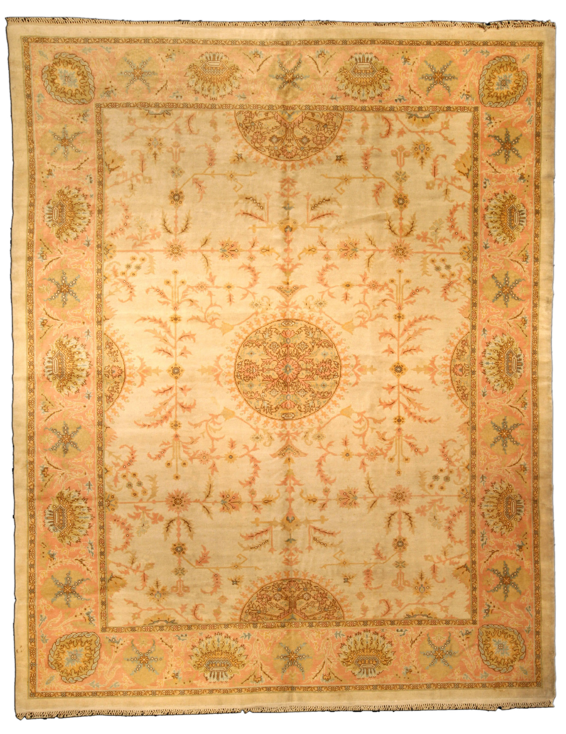 Vintage Turkish Oushak Carpet Bb2391 By Doris Leslie Blau