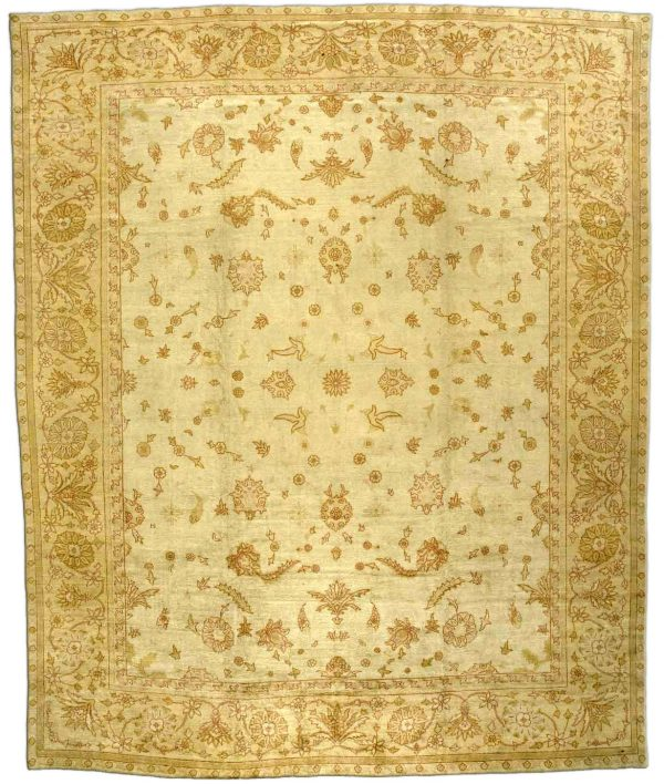 Antique Turkish Oushak Rug BB2704