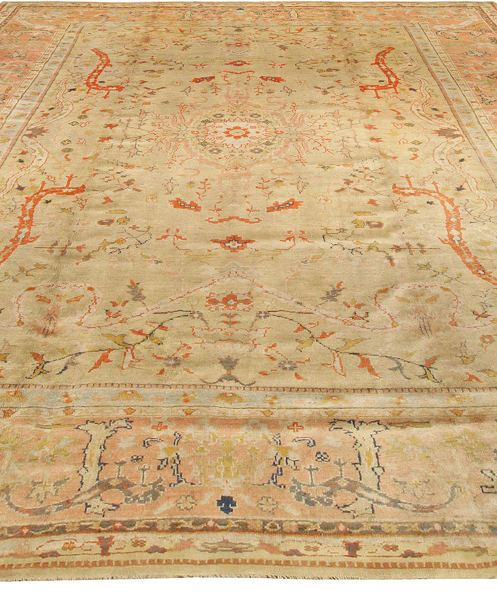 Antique Turkish Oushak Rug BB3419