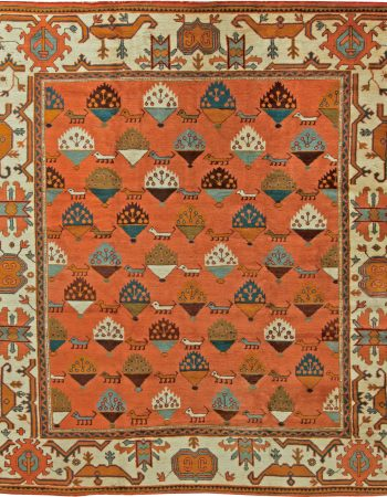Antique Turkish Oushak Rug BB6092