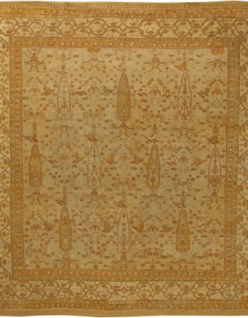 Antique Turkish Oushak Rug BB6161