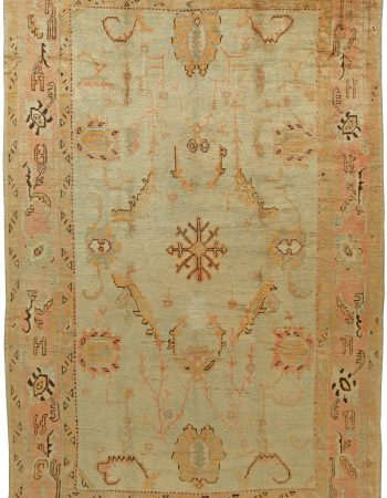 Turkish Oushak Vintage Rug BB6104