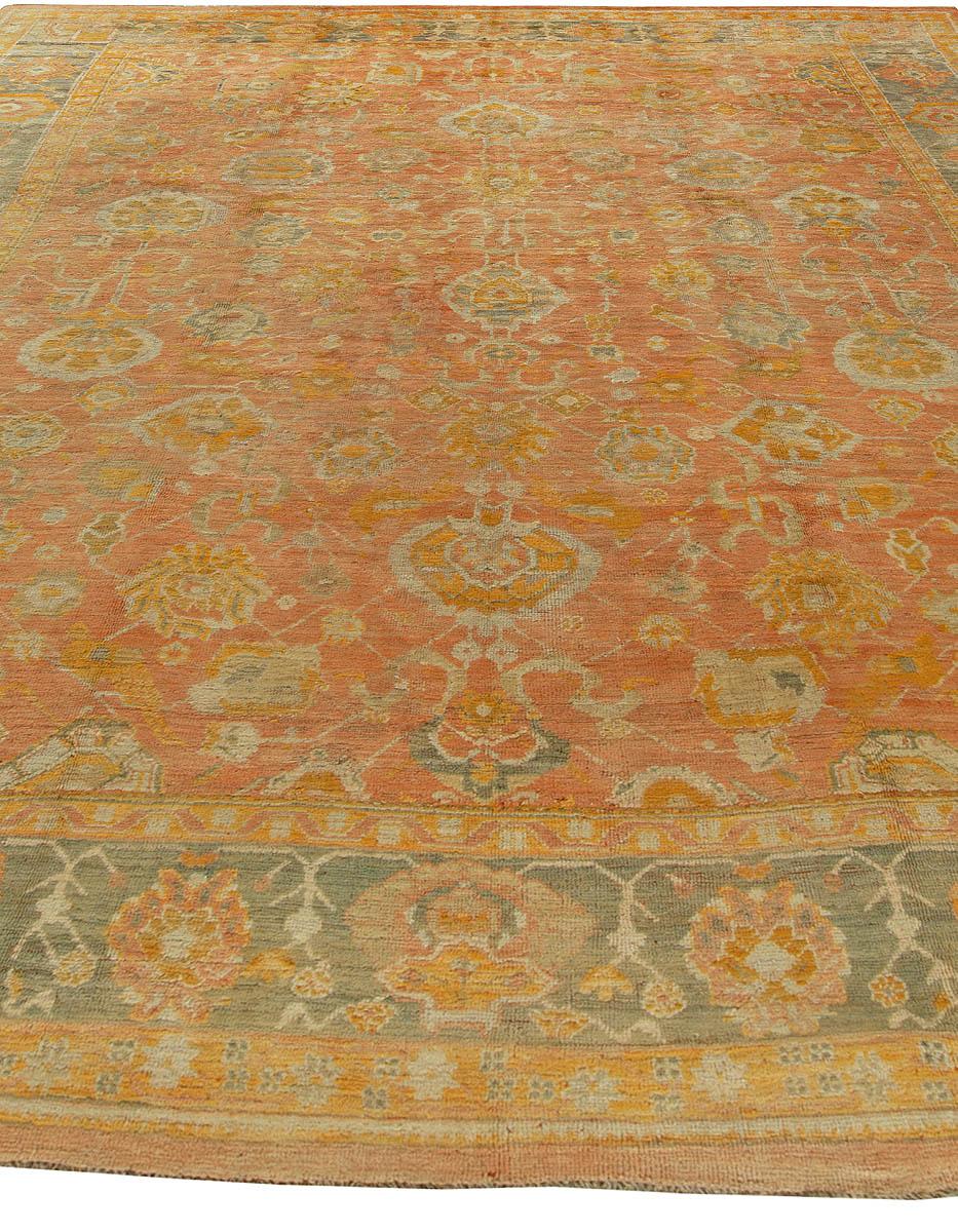Antique Turkish Oushak Rug BB6102