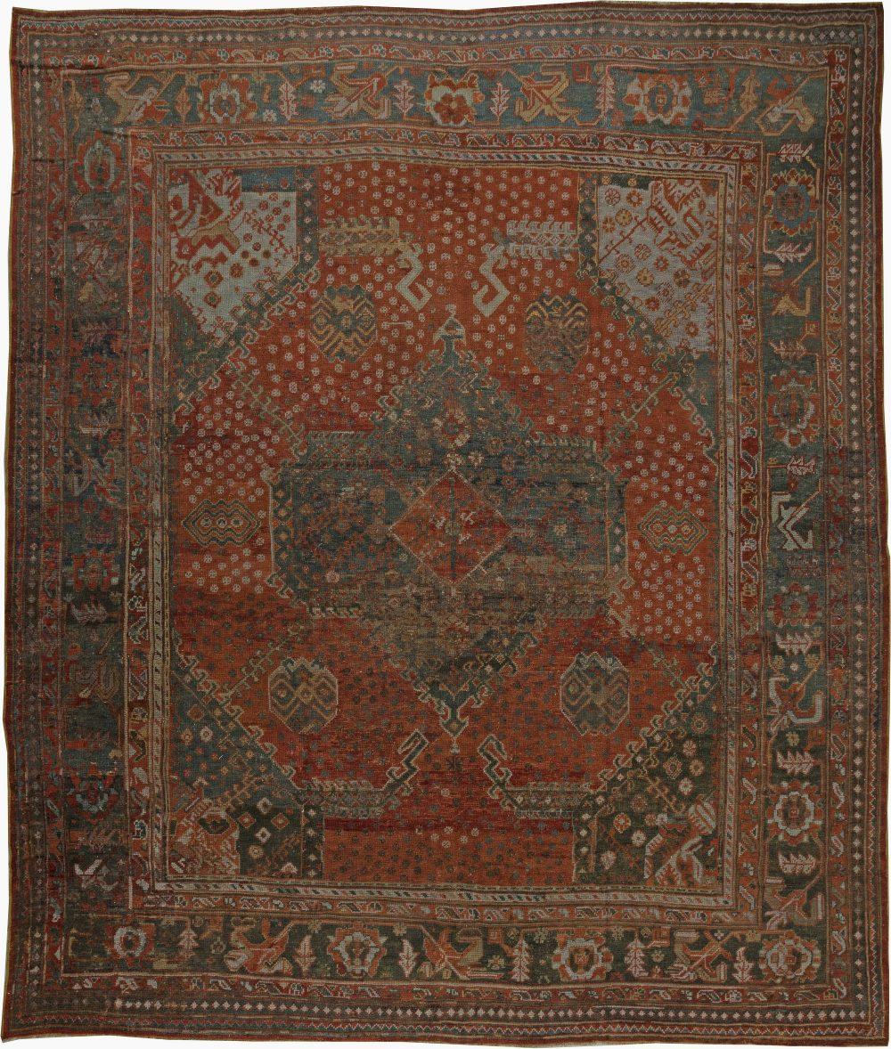Antique Turkish Oushak Rug BB6045x