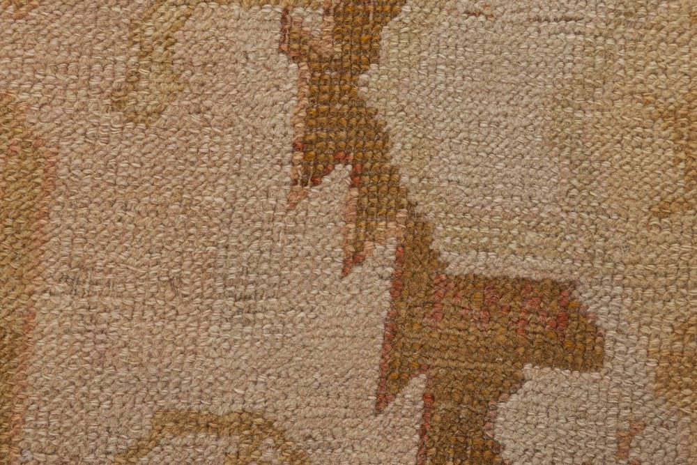 Oushak Light Beige, Taupe, Sandy and Brown Handwoven Wool Rug BB6358