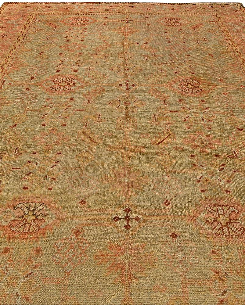 Vintage Turkish Oushak Handwoven Wool Rug BB5915