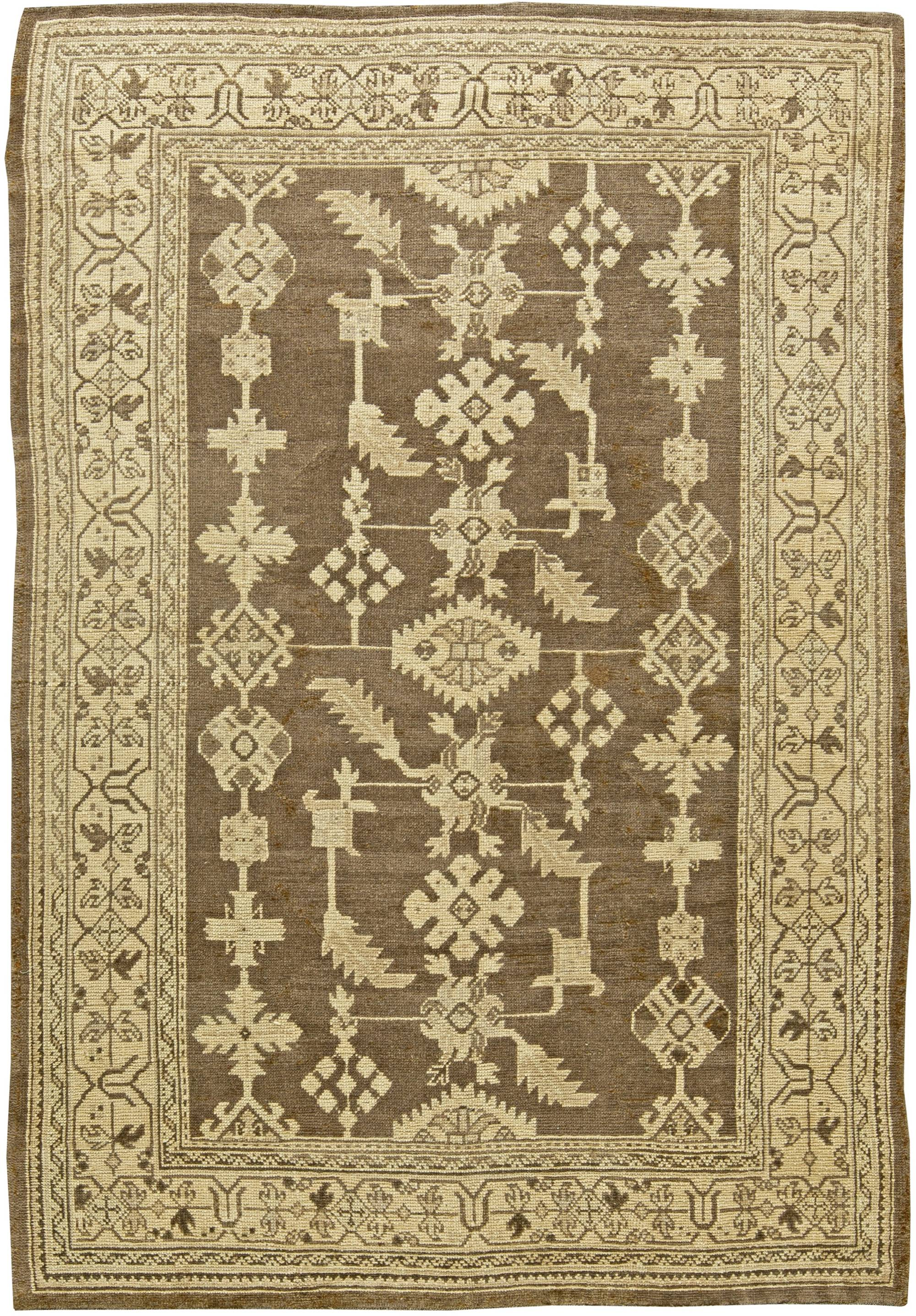 vintage turkish oushak rug bb6053 by doris leslie blau 87969
