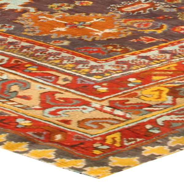 Antique Turkish Oushak Rug BB4455
